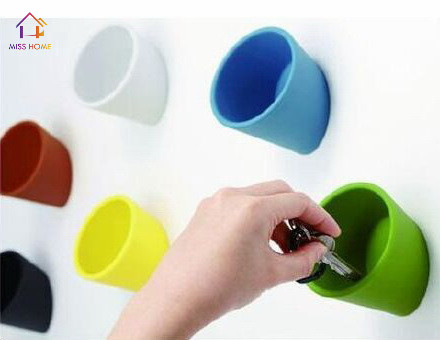 (6 Pcs/set) Plastic Storage Cups House Storage Boxes Wall Decoration Cups  Storage