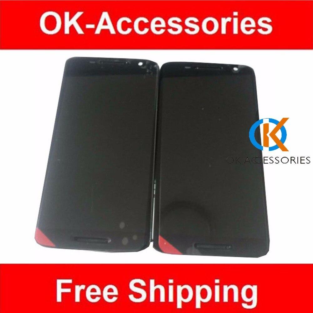 imágenes para De Color negro 1 PC/Lot Para Moto X3 XT1561 XT1562 XT1563 Pantalla LCD + Frame + Asamblea Digtizer Pantalla Táctil