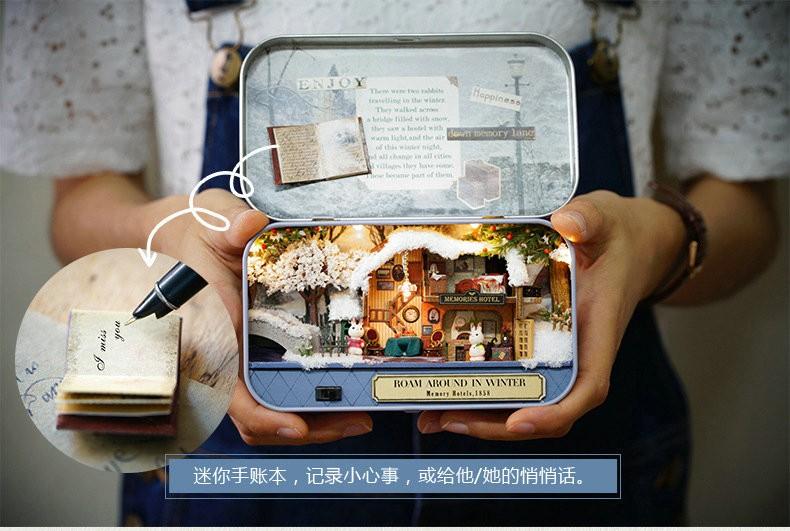 DIY Miniatura Dollhouse BOX THEATRE OLD TIMES TRILOGY Toy House Model Kits Secret Box Girl Boys Birthday Gifts Christmas Present 17
