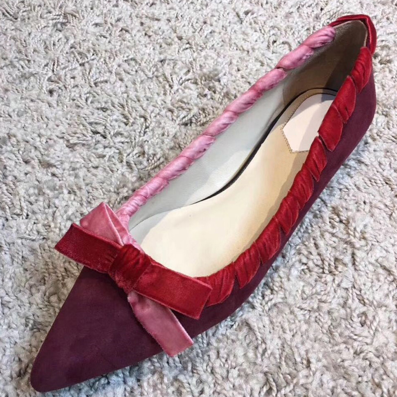 Show Peu Bout Femme As Show Couleur Chaussures Zapatos Mujer De Dames Femmes Mariage Casual Profonde as Pointu Mode Mocassins Appartements Mélangée Papillon Confortables qPwFnBxE