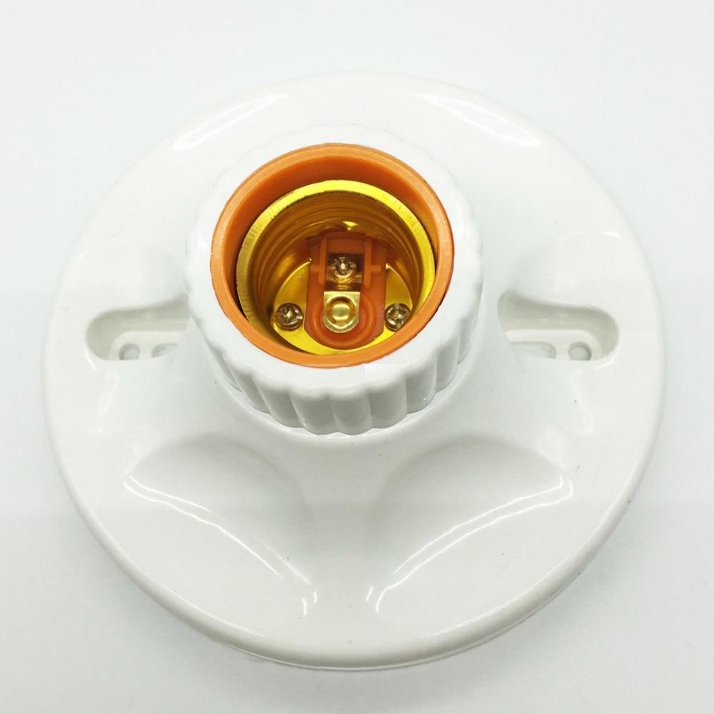 E27 LED Light Bulb Holder Round Square Fitting Socket With US Plug Switch E27 Base Hanging Lamp Socket For Home 6A 110V-220V
