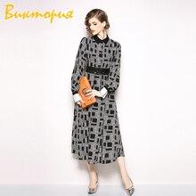 Long Sleeve Shirt Dress women's  Medium section High quality fabric Female