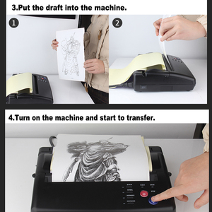 Image 5 - Tattoo Transfer Machine Kopie Stencil Machine Printer Tekening Thermische Stencil Maker Copier Voor Tattoo Transfer Paper Supply