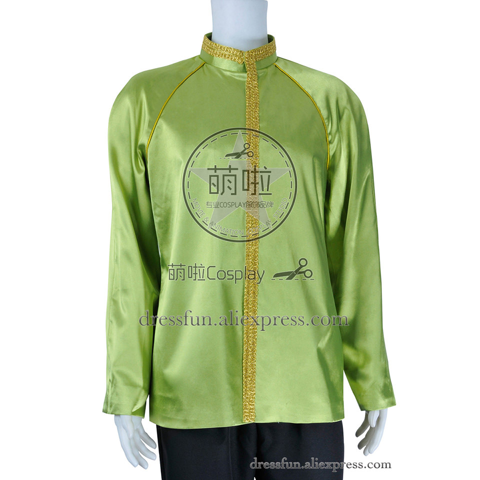 Star Trek Cosplay James Kirk Costume Green Jacket Shirt Uniform Suit Outfits Halloween Fashion Party Fast Shipping
