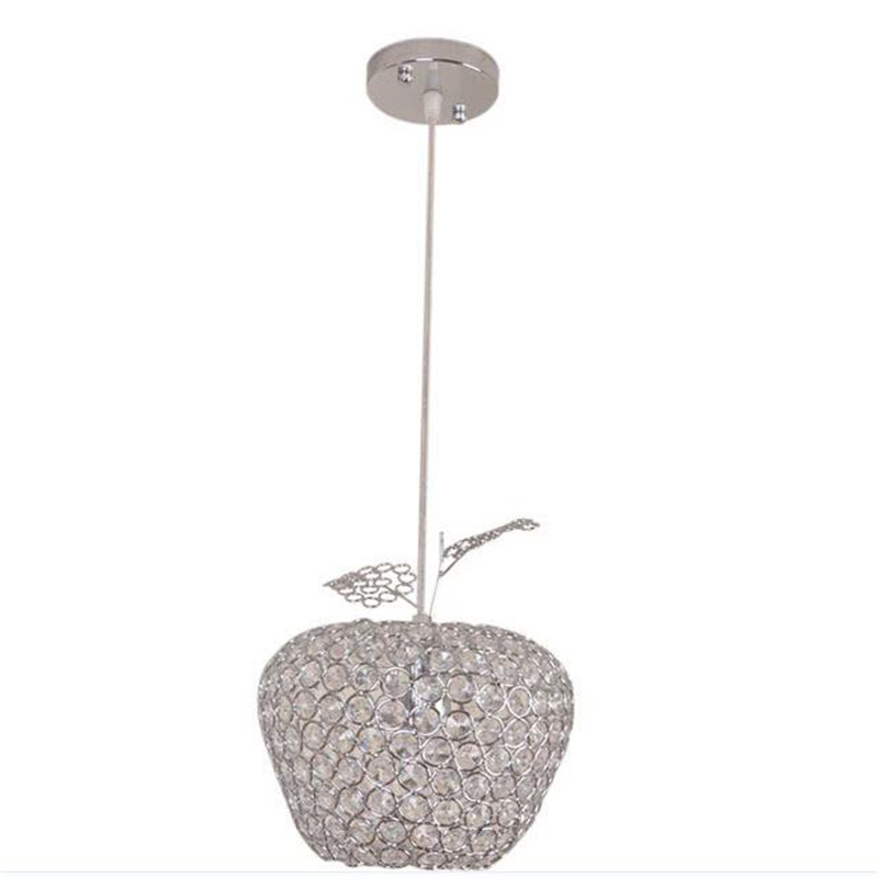 ФОТО LED Modern Crystal Chandelier Lamps 12CM 20CM 25CM 28CM Apple Lustres De Cristal Restaurant LED Chandelier Crystal Lamp