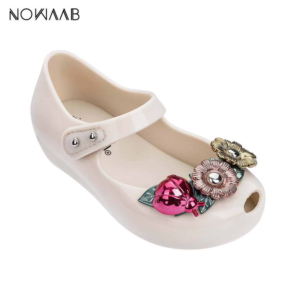 Original Mini Melissa Ultragirl X Girl Sandals 2019 New Jelly Sandals Kids Sandals Children Beach Shoes Non-slip Toddler Shoes(China)