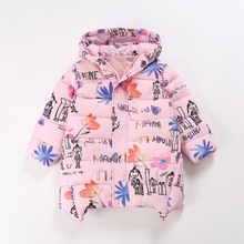 The new winter models  children 's foreign trade printing cartoons thick cotton warm jacket age from 4-14T