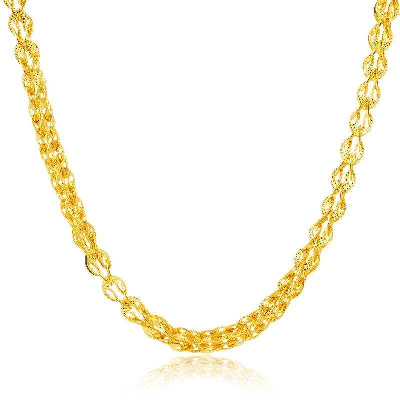 24K Golden Chain Necklace For Man 2015 New Unique Design High ...