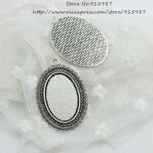Перец сладкий 10 pcsantique серебряный сплав Камея 31*46 мм (Fit 20*30 мм диаметр) овальный Кулон пробелы Настройки Кабошон Настройки Подвеска D0580