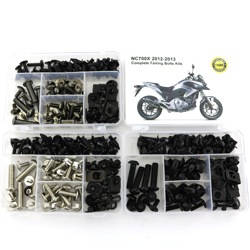 For Honda NC700X 2012 2013 Complete Full Fairing Bolts Kit Nut Motorcycle Covering Screws Bolts Steel