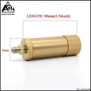 Image 2 - Bomba de mano PCP de alta presión 4500ps separador de aceite y agua con manguera, conector hembra y macho, tanque de aire pcp M10 * 1 set