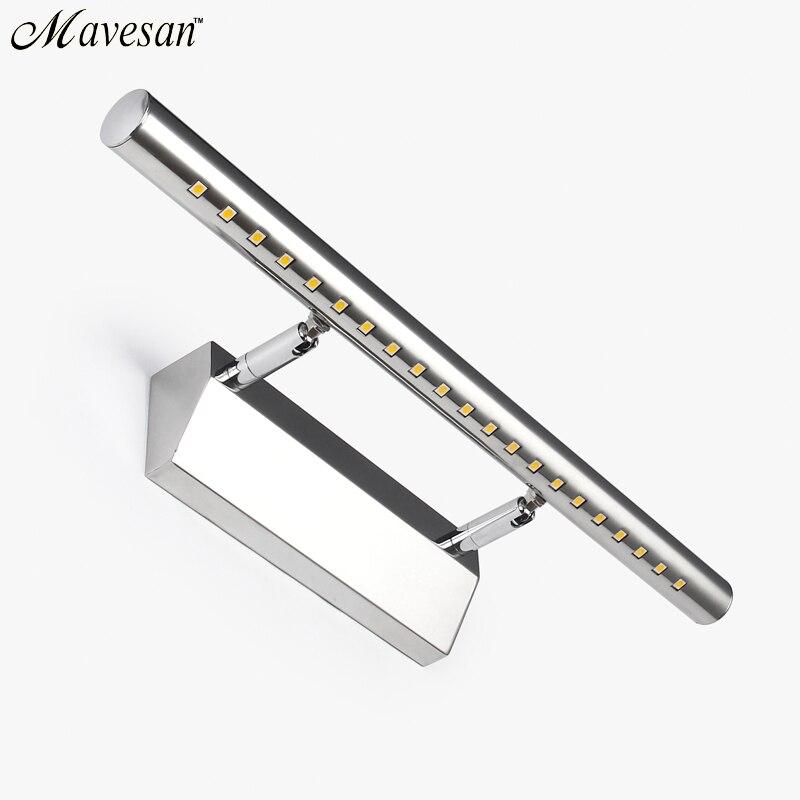 2018 Venta caliente llevó la lámpara de pared espejo del baño de luz blanco cálido/blanco washroon lámparas aluminio boby y acero acero