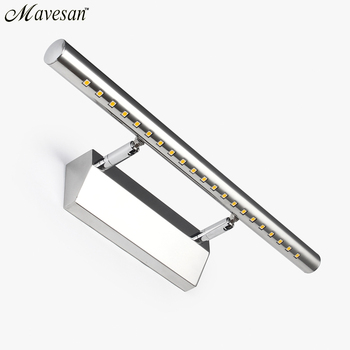 2019 Hot Jual Lampu Dinding LED Cermin Kamar Mandi Hangat Putih/Putih Washroon Dinding Perlengkapan Lampu Aluminium Boby dan Stainless baja