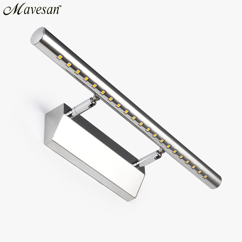 2019 Hot selling LED Wall light Bathroom Mirror warm white /white washroon wall Lamp fixtures Aluminum boby & Stainless Steel