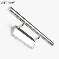 Heißer verkauf LED Badezimmerspiegel Wandleuchte Edelstahl Kalt/warm Aluminium boby badezimmer leuchten