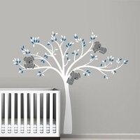 free shipping oversized Large Koala Tree Wall Decals for baby nursery baby nursery vinyl wall decor stickers ,T3026