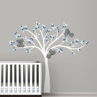 free shipping oversized Large Koala Tree Wall Decals for baby nursery baby nursery vinyl wall decor stickers ,T3026
