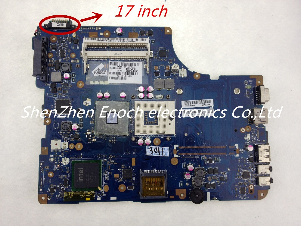все цены на  For Toshiba Satellite L500 Laptop Motherboard Integrated K000092150 KSWAA LA-4982P DDR3 for 17 inch  LCD  онлайн