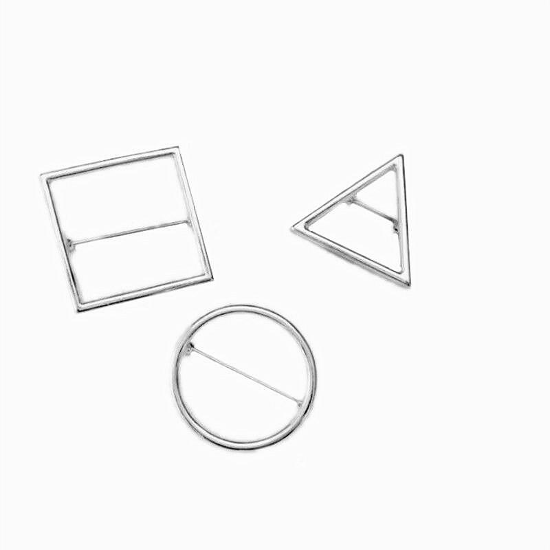 Geometrische eenvoud driehoek vrouwen sieren artikel broche broche Mode cirkel merk sieraden broche Populaire meisjes mooi cadeau