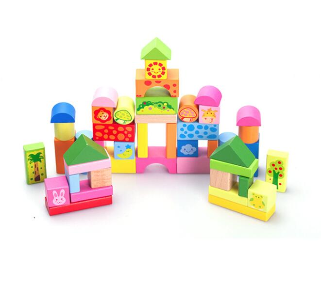 ABC Wooden Building Blocks Colourful Egges Funny Children s Gift