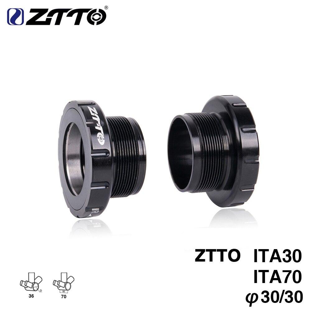 ZTTO ITA30 ITA 70 MTB Road bike External Bearing Bottom Brackets for BB Rotor Raceface SLK BB386 30mm Crankset