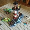 Nuevo 437 unids Embrujada Faro Modelo Ladrillos Bloques de Scooby Doo 3D Regalos de Juguetes Para Niños Compatibles con Legoe