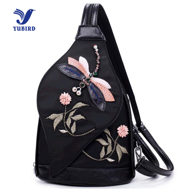 YUBIRD Fashion 3D Embroidery Women Leather Waist Bags Printing Back pack Oxford Chest Bag Small Women Bag Travel Waist Pack