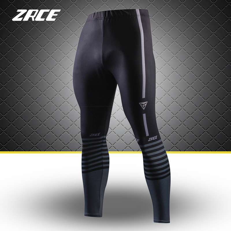 39034f10333 ZRCE Training Leggings For Men Plus Size Black Long Exercise Skinny Joggers  S 2XL Compression Pants High Elastic Sport Trousers-in Trainning   Exercise  ...