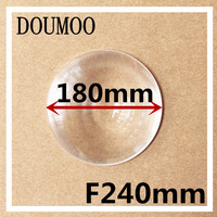 Support dropshipping 1 pcs / lot Diameter 180 mm Focal length 240 mm Fresnel Lens led condenser lens Round acrylic fresnel lens