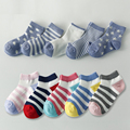 5 Pair/lot Neonatal Summer Mesh Baby Socks Kids Children Girls and Boys Cotton Socks For 1-10 Year