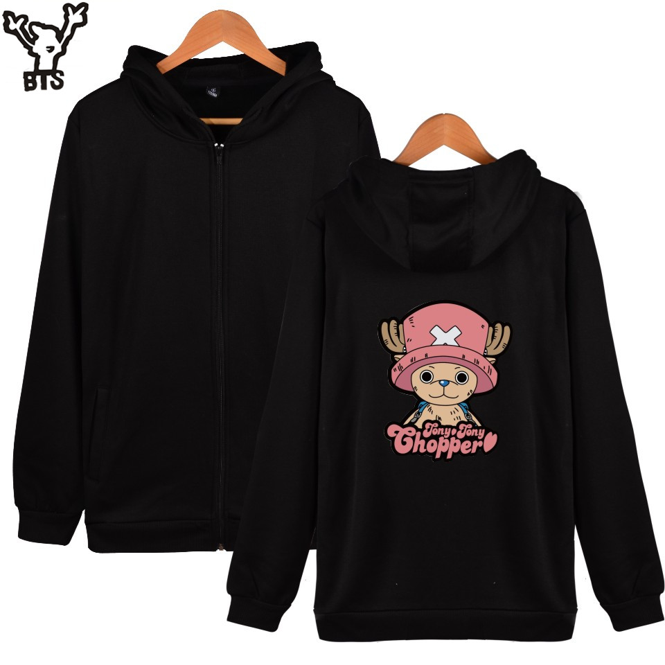 BTS New Fashion Onepiece Harajuku Zipper Sweatshirt For Mans And One Piece Womens Hoodies Streetwear With Cap Clothes XXS TO 4XL