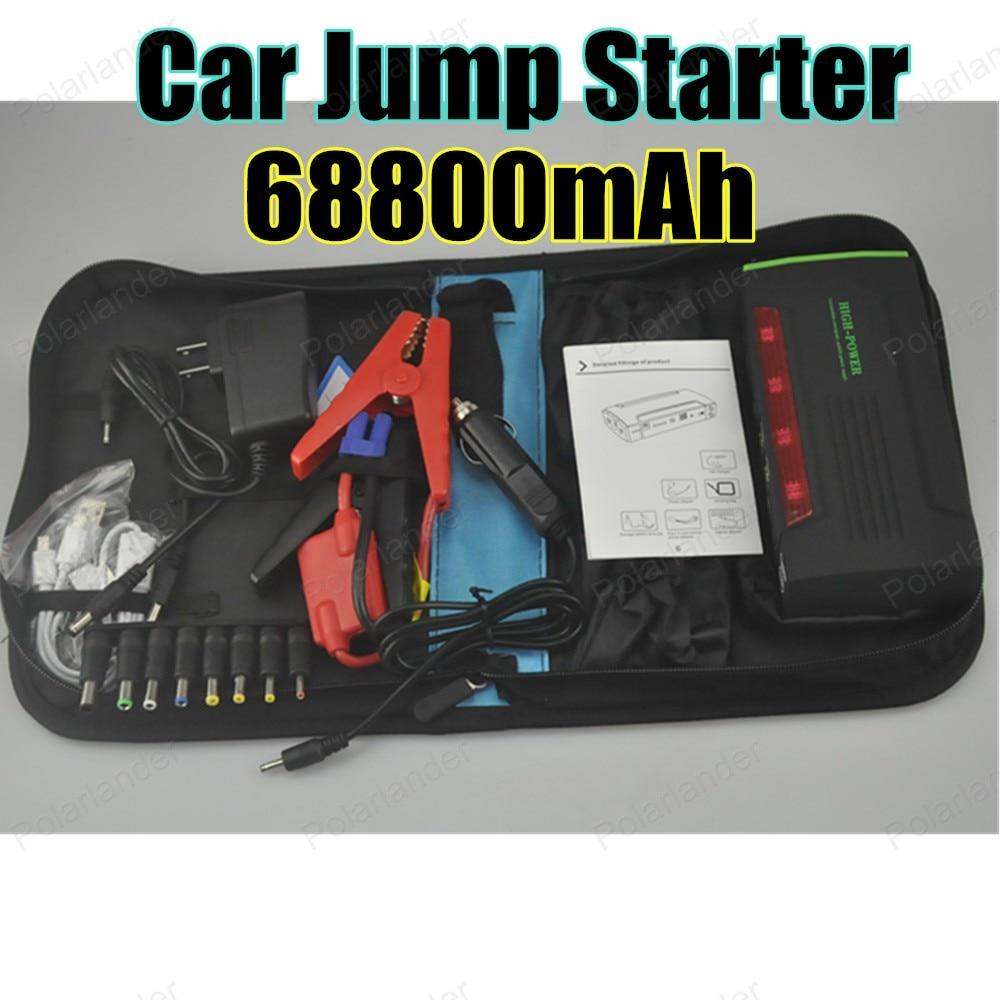 Car power bank car Jumper starter 68800 mAh high capacity auto battery Car Power Bank 12 v Engine Green  color
