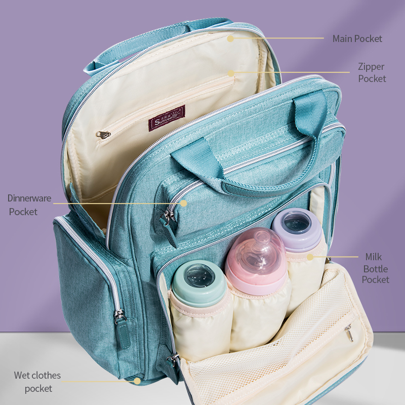 Image 3 - SUNVENO Diaper Bag Backpack Maternity Baby Bag Mom Backpack Stylish Stroller Baby Diaper Bags For Mom-in Diaper Bags from Mother & Kids