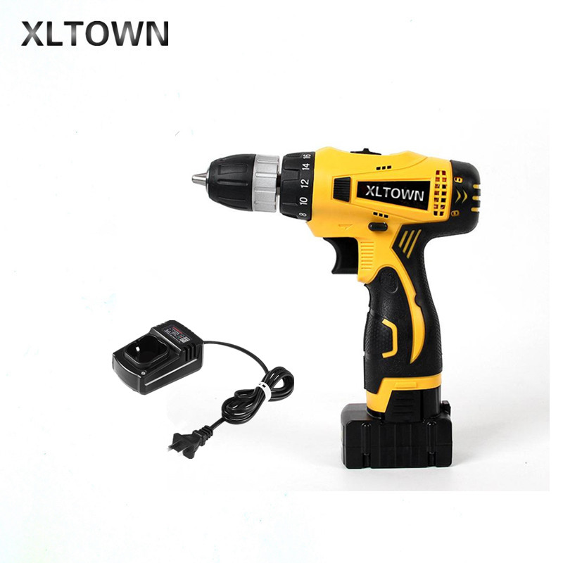 XLTOWN 25V Electric Drill 2000mA Large Capacity Lithium Battery Electric Screwdriver Rechargeable Multi-Motion Electric Drill внешний аккумулятор hiper rp10000 white