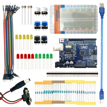 UNO R3 starter kit for arduino basic learning suite mini breadboard LED jumper wire button for arduino compatile