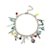Silver Plated Star Trek Charm Bracelet  For Movie Fans Best Gift