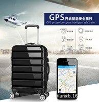 Высококачественный пояса багажа баланс gps позиционирования Интеллектуальных Путешествий коробка зарядка через usb интернат Окно чемодан пр