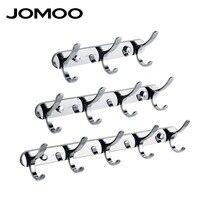 JOMOO Zinc Alloy Modern Bathroom Revolve Towel Coat Hooks Chrome 3 4 5 Rows Robe Hook