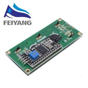 Image 2 - LCD1602 + I2C LCD 1602 وحدة الأزرق/شاشة خضراء PCF8574 IIC/I2C LCD1602 لوحة محول