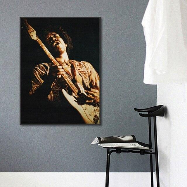 Vintage Plakat Jazz Muzyka Sztuka Płótnie Obraz Gitara Instrumenty