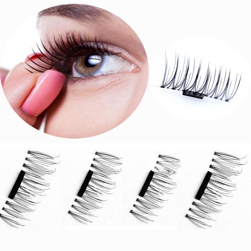 Stocks NEW Reuseable 3D Magnetic Flash Lashes Artificial Natural Long Magnetic Lashes Cross