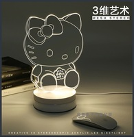 Kids Rooms Decorative 3D Table Lamp Lighting Cartoon Table Light Novelty Creative Parede Lampen Nursery Room