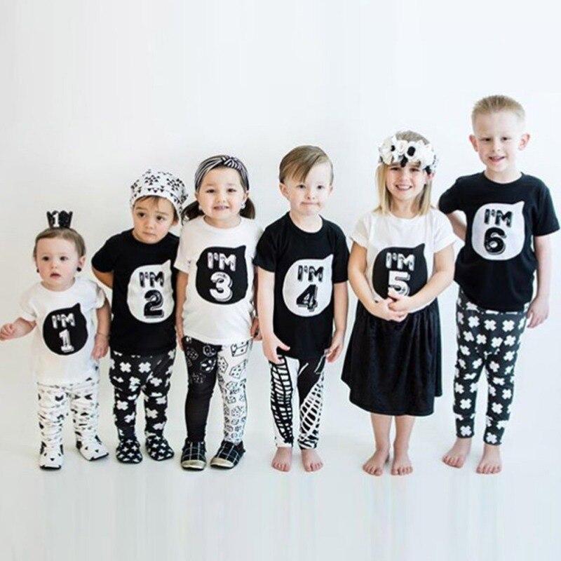 2017-0-6Y-Baby-Boys-Girls-T-shirt-Children-Letter-Birthday-Age-Printed-Black-White-Noir-Cotton-Blends-Summer-Shirts-Top-Tees-1