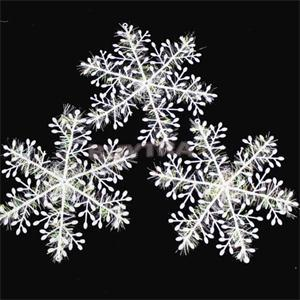 3pcs1pack white plastic christmas snowflake christmas tree window christmas decorations for home christmas ornament in artificial snow snowflakes from