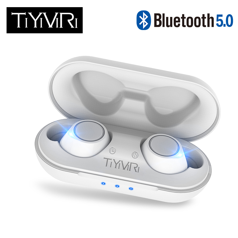 TWS Bluetooth 5.0 Wireless Earphone Power In Ear Mini Earbuds HiFi Stereo Sport Earphone IP5 Waterproof Headset Headfree For All