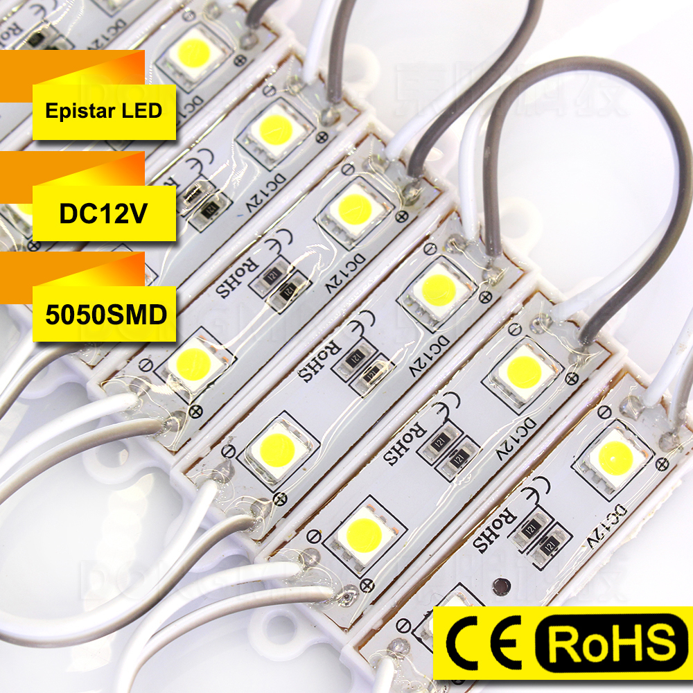 Free Fedex 400pcs Lot 5050 LED Modules Backlight Waterproof IP65 2 LEDs High Bright LED Letter