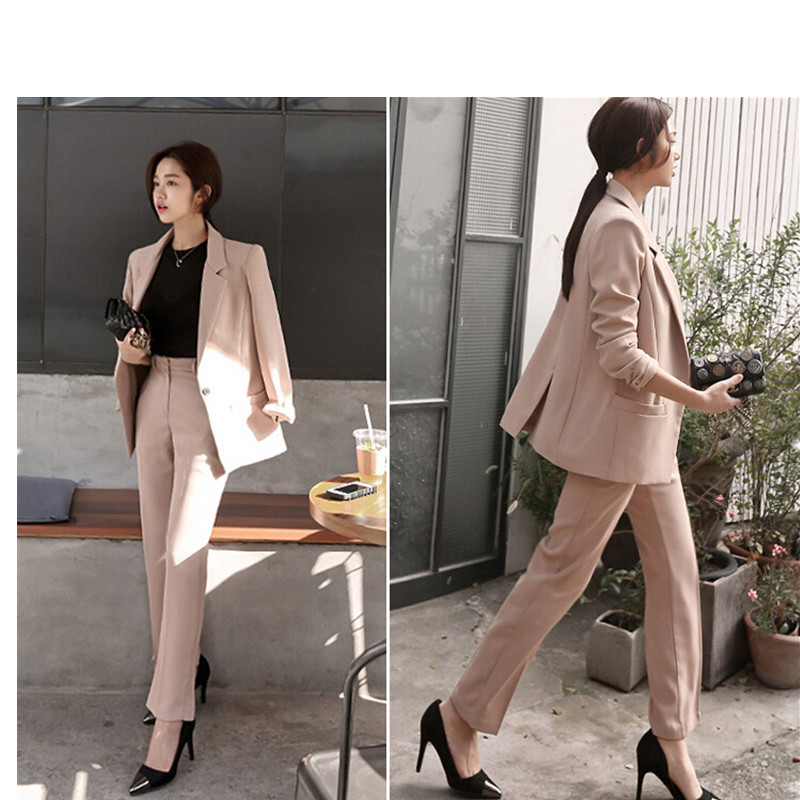 Simplicity elegant female suits career suit casual female new wild female fashion solid  ...