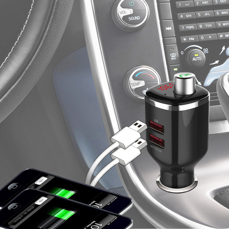 BC23 4.2 Handsfree Calling MP3 Player with Dual USB Car Charger