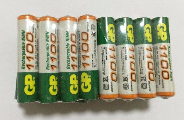 Горячие Продажи 16 шт. Высокой Мощности AAA 1100/1. 2 В GP Аккумуляторная NiHM Батарея 1100 мАч Новые Батареи + бесплатная Доставка 500 мАч