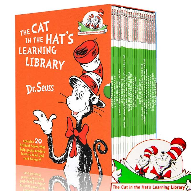 20 Books/Set Dr. Seuss Cat In The Hat's Learning Library English Story Books  For Children Kids Coloring Book Dr Seuss- AliExpress